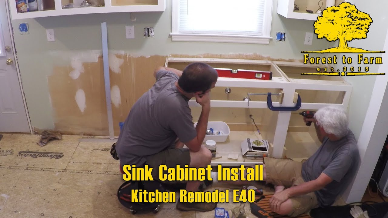 Sink Cabinet Install Kitchen Remodel E40 Youtube