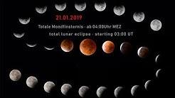 LIVE-Stream: Totale Mondfinsternis / Total Lunar Eclipse 21.01.2019