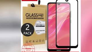 Rzants 2PCS Huawei Y7 Pro 2019 Tempered Glass Screen Protector Full Coverage 9H