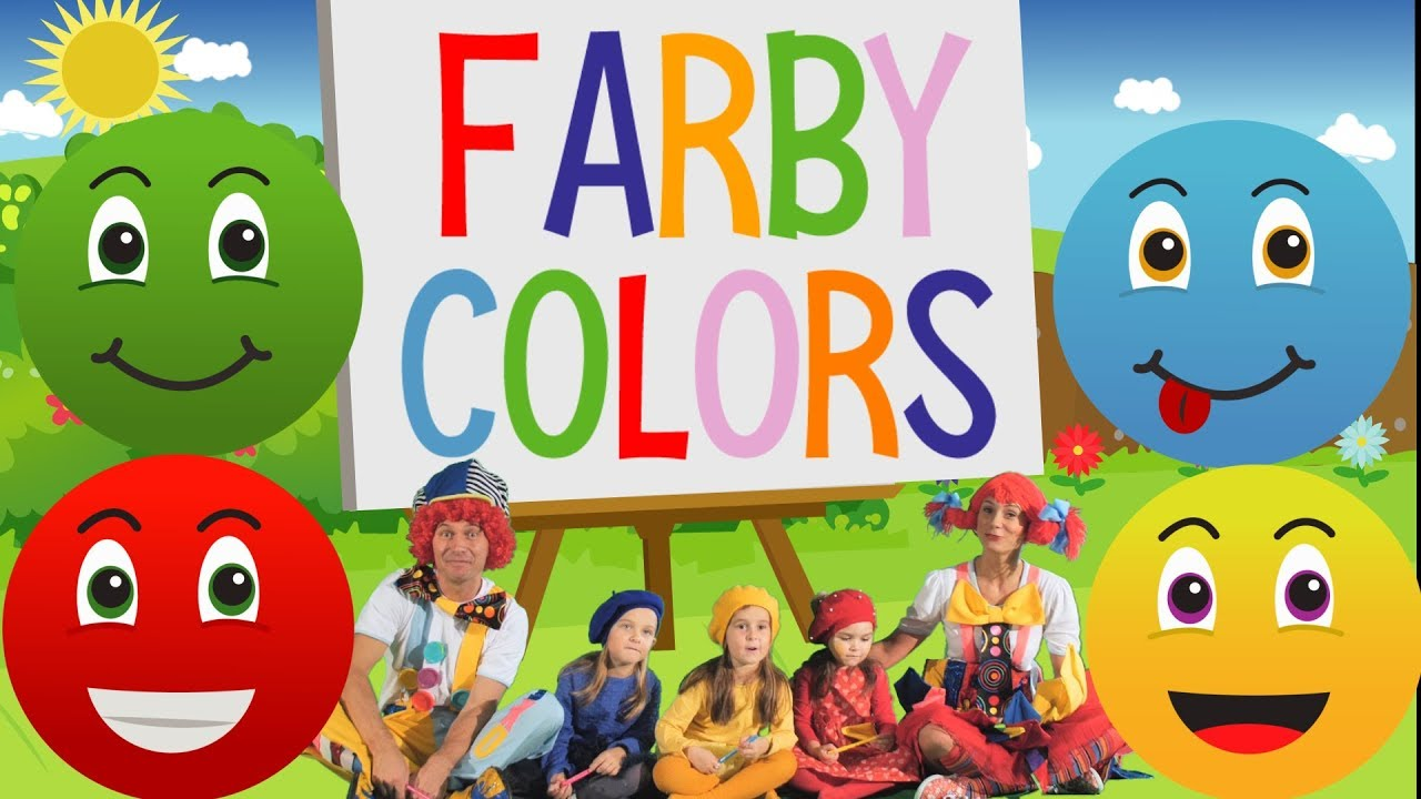 We Learn Colors In English Videoklip Farby Po Anglicky Youtube