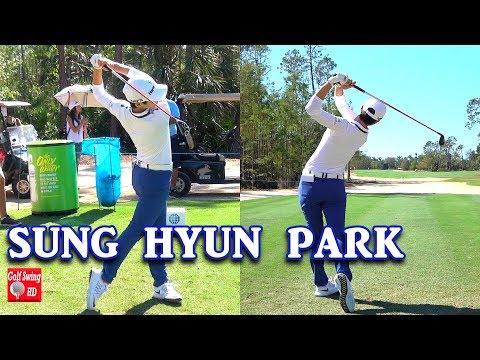 SUNG HYUN PARK DUAL ANGLE SLOW MOTION GOLF SWING 1080 HD
