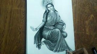 How to draw Laxmi mata Drawing // lakshmi ma (goddess of wealth ) // pawannathart