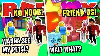 NOOB DISGUISE TROLLING!! USING 10 *SECRET* RARE PETS TO TROLL ROBLOX BULLIES IN BUBBLEGUM SIMULATOR!