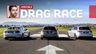 Mercedes A45 S AMG vs Audi RS3 vs BMW M2 Competition | DRAG RACE [ENGLISH SUB]