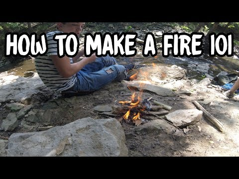 HOW TO MAKE A FIRE WITHOUT GAS OR A LIGHTER!