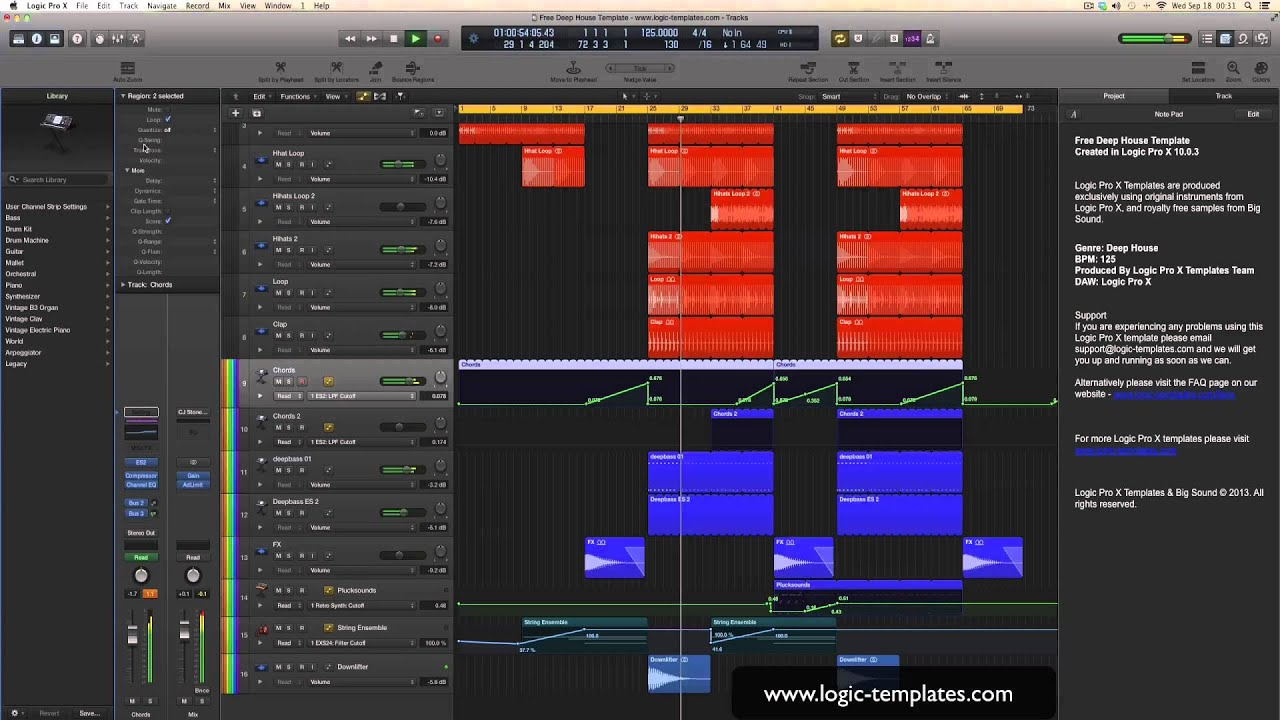 Free logic pro x template youtube free logic pro x template maxwellsz