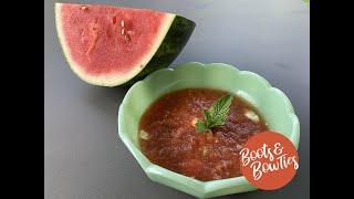 Chilled Watermelon Tomato Gazpacho