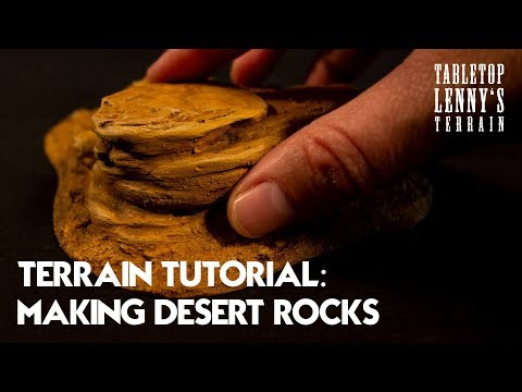 TERRAIN TUTORIAL: Making Desert Rock Terrain // #wargaming #tabletop #terrain