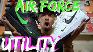 espectro champú Destino  ¿SNEAKERS QUE SE CONFUNDEN CON NIKE OFF WHITE? Nike Air Force Utility  review & on feet - YouTube