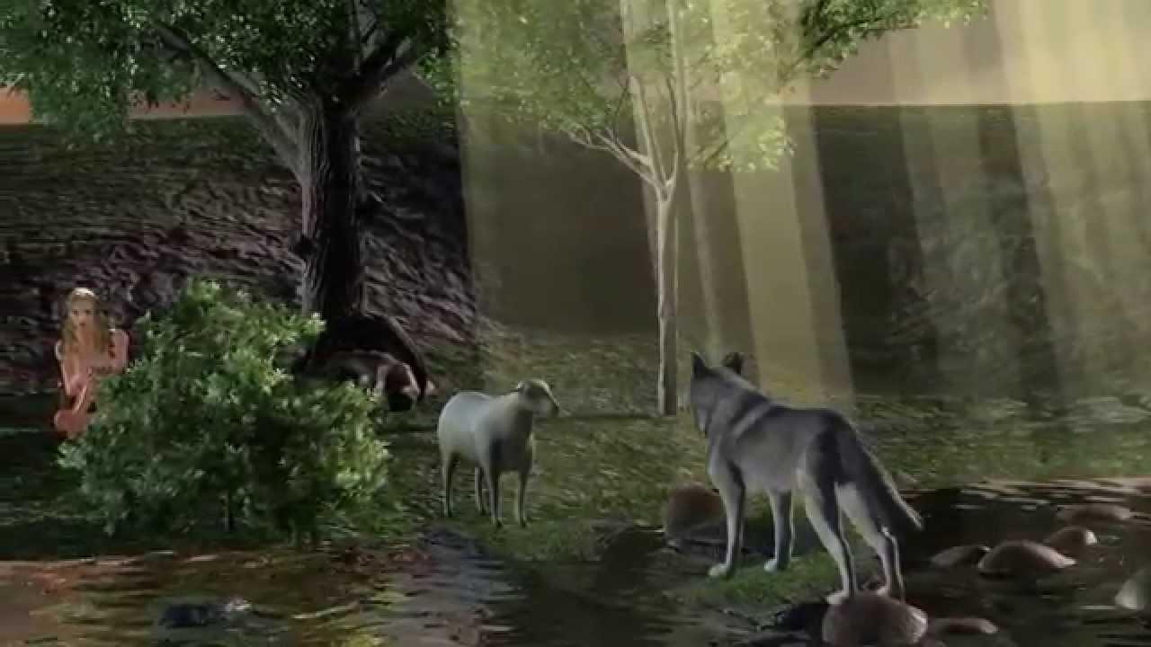 Le loup et l 39 agneau fables de la fontaine youtube - Dessin loup et agneau ...