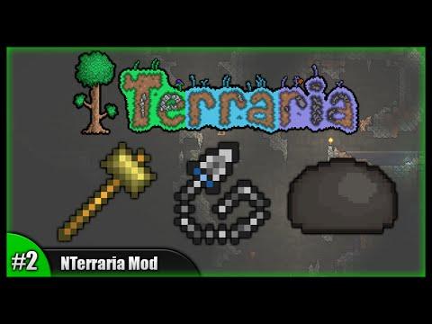 Epic Hammer! Chain Knife!    Let's Play N Terraria Mod (Modded Terraria 1.2.4) [Episode 2]