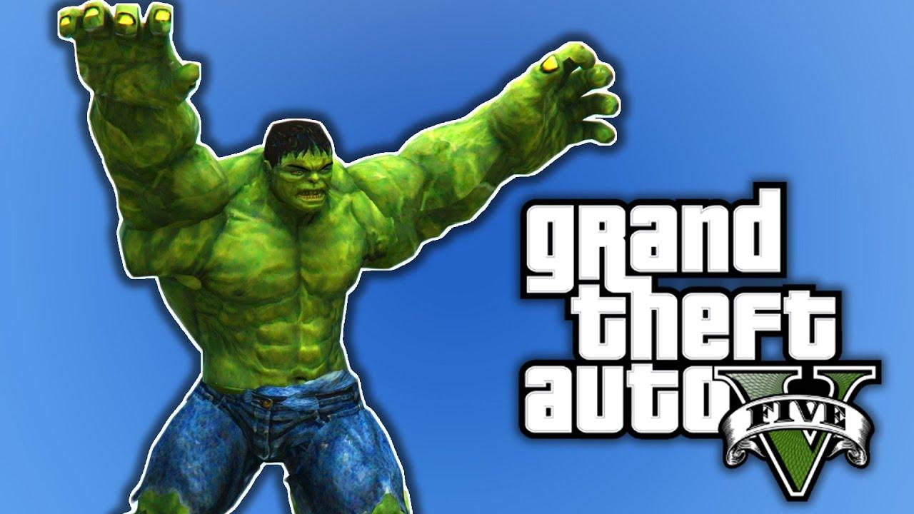 INSANE HULK MOD | GTA 5 PC Mods and Funny Moments
