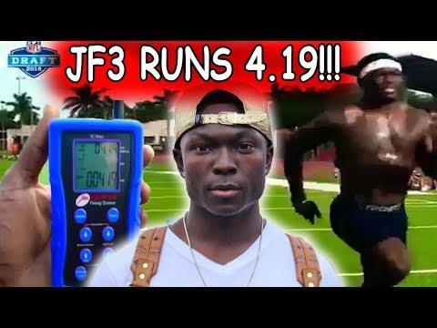 John Franklin III Runs a 4.19 in the 40 Yard Dash!!!