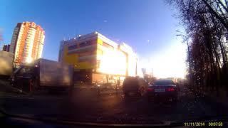 Смотреть видео FHD0148 Москва, 22.10.2017, культура вождения, обгон через сплошную онлайн