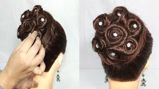 New juda hairstyle for Wedding/Party || wedding hairstyles || 2018 hairstyle || hairstyle