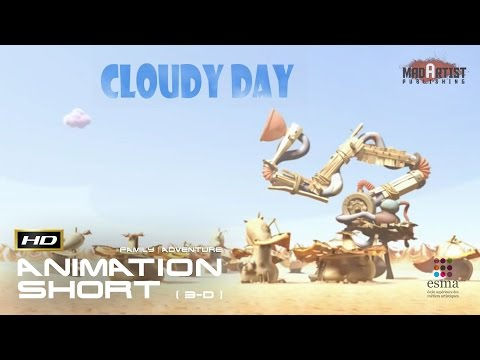 "CGI 3D Animated Short Film ""CLOUDY DAY"" Adventure Animation by ESMA"