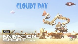 CLOUDY DAY | A Machine which turns clouds into Water goes bad - Cute 3D CGI Animation by ESMA