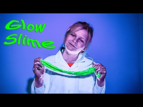the Assistant Uses Science to Make Glow in the Dark Slime on TheEngineeringFamily