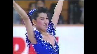 """伊藤みどり Midori Ito 1990 NHK Trophy (Asahikawa) - Short Program """"Warsaw Concerto"""""""