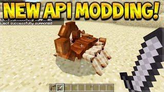 Minecraft Pocket Edition/Bedrock - NEW API Modding Preview Add Custom Mobs (Minecraft Bedrock)