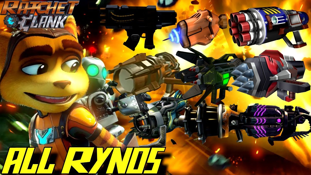 Ratchet Clank All Ryno Weapons 2002 2016 Gameplay Youtube