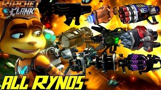 Ratchet & Clank - All RYNO Weapons (2002-2016) GAMEPLAY