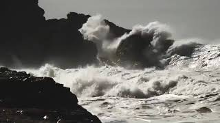 Australian Surfer Gets Caught by the Rocks in Nazare, Portugal