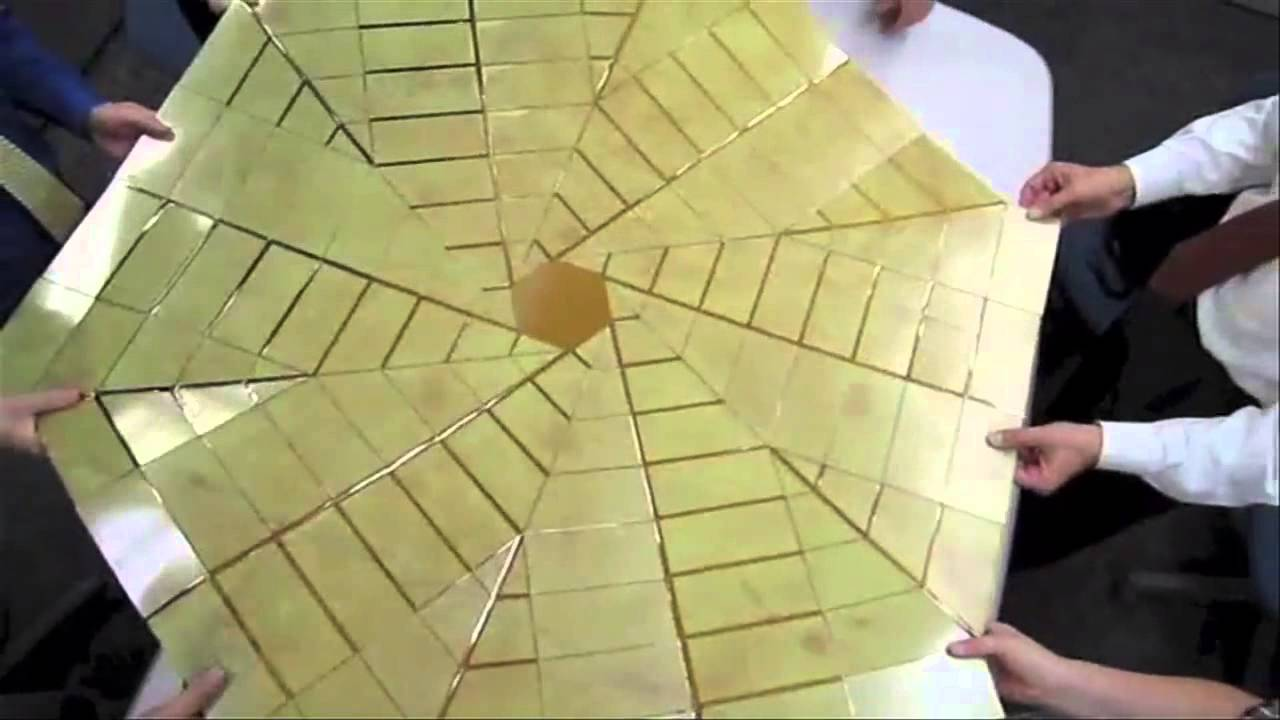 Origami Style Space Solar Panels Unraveled Video Youtube