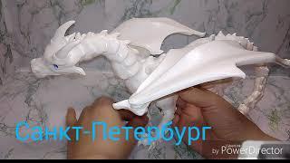 Белый ДРАКОН бжд, шарнирный, подвижный из пластика