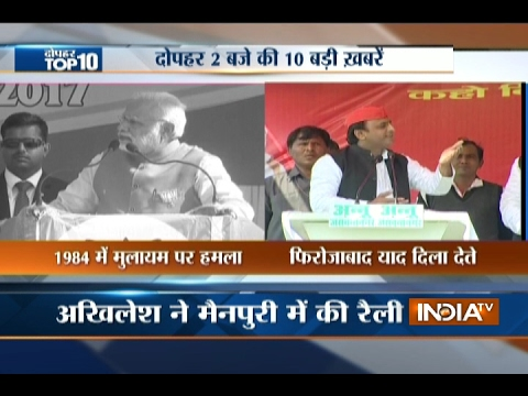 10 News in 10 Minutes | 16th February, 2017 - India TV