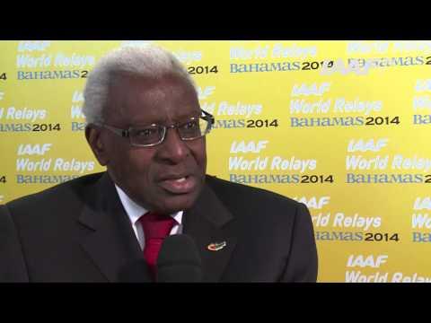 IAAF World Relays Nassau, Bahamas 2014 - Lamine Diack