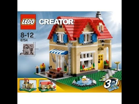 Lego Creator Family Home 6754 Building Instructions Youtube