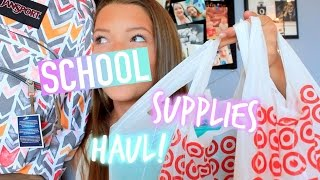 Back to School Supplies Haul! 2015