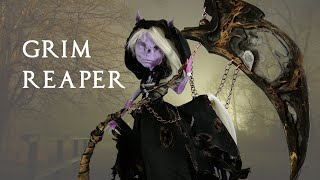 Halloween Special Grim Reaper OOAK Doll Repaint