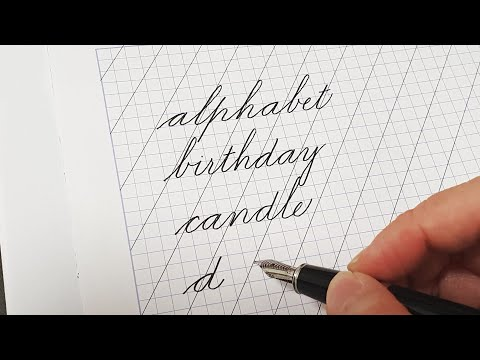 Write in Spencerian script from a-z   Spencerian penmanship Part 2