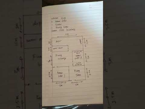 sketsa rumah 6x9, 2kamar tidur, 1dapur,1ruang tamu, taman