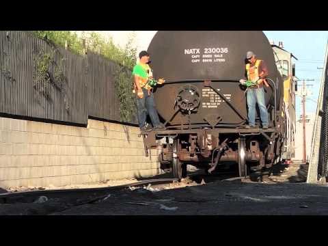 Union Pacific Genset Switchers on East Los Angeles Job