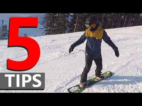 Make 5 Tips for Linking Beginner Snowboard Turns Images