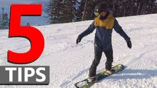 5 Tips for Linking Beginner Snowboard Turns
