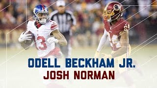 Odell Beckham Jr. vs. Josh Norman Round 3! | NFL Week 17 Player Highlights
