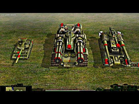 Massive Overlord Tank VS 6 GLA Assault | Contra Mod 2020 | C&C : Zero Hour