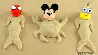 Superhero Baby Plays with Sand Play Doh Stop Motion Movies