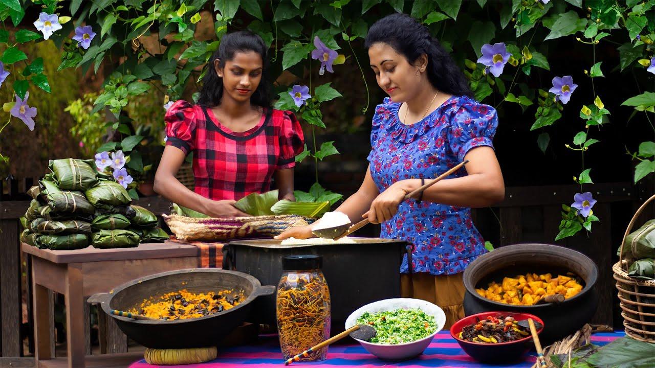 Pre Prepared number of Preservative veg dishes to taste villagers in vesak day|Poorna-The naturegirl