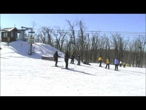 Skiing Mountain Creek, Vernon, New Jersey, USA