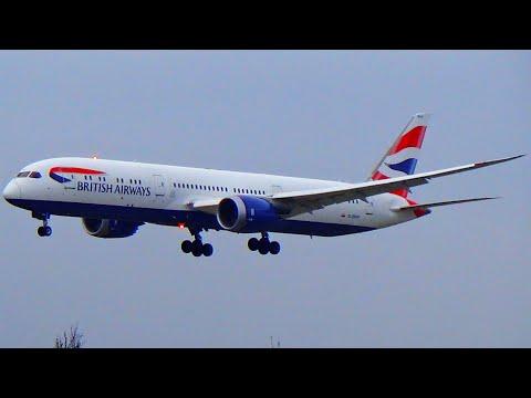British Airways Boeing 787-9 Dreamliner Landing at London Heathrow Airport [LHR]
