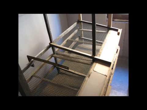 Cмотреть онлайн №01 Клеточная батарея своими руками. Каркас. Homemade cages for quail