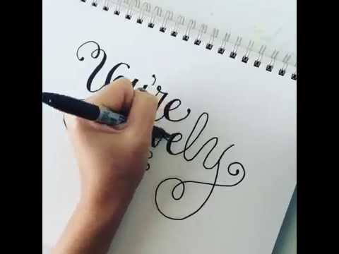 How To Do Cheater Calligraphy Youtube