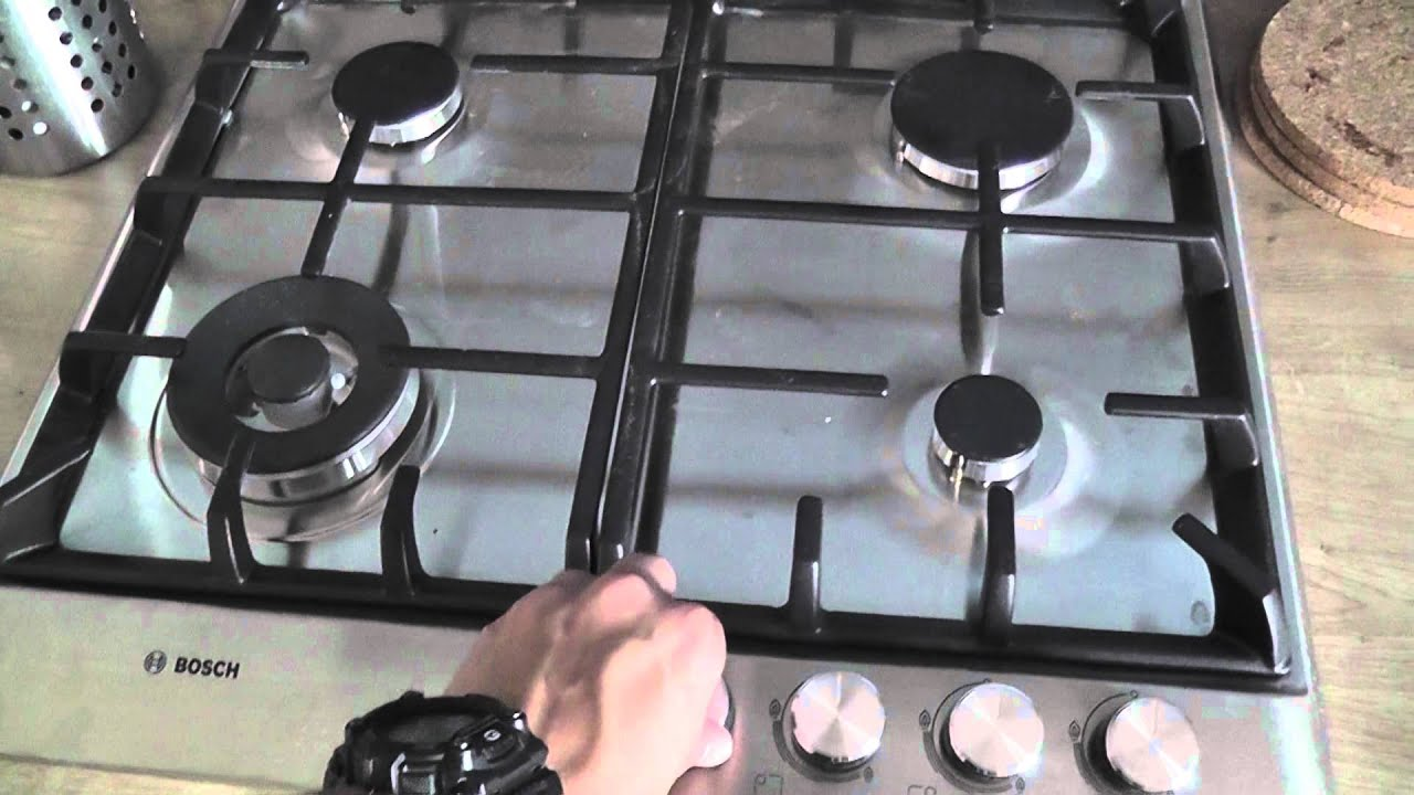 bosch pch615b90e gas hob unboxing test youtube. Black Bedroom Furniture Sets. Home Design Ideas