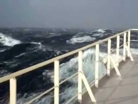 LNG tanker in storm