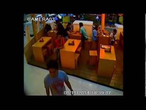 Aksi Pencurian Tas di Supermall Karawaci -- DPO CCTV3
